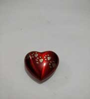 Red Heart Shaped mini Urn