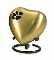 Gold Health Shaped mini urn