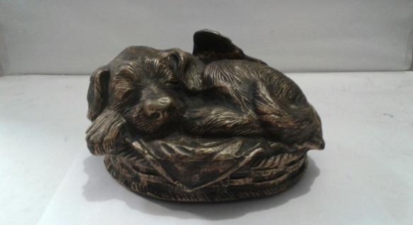 Dog sculpture pet URN