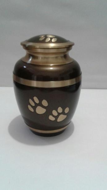 Brown & Gold metallic 7 inch Urn