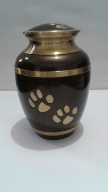 Brown & Gold metallic 8 inch Urn