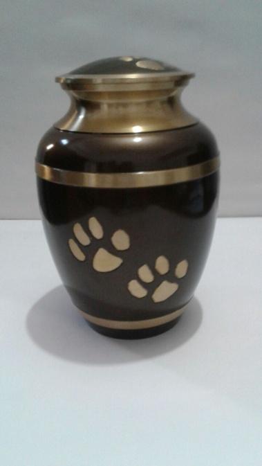 Brown & Gold metallic 8 inch Urn