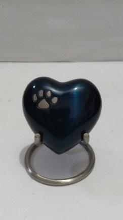 Black Heart Shaped 3 inch mini Urn
